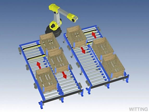 Robothantering ritning 3D