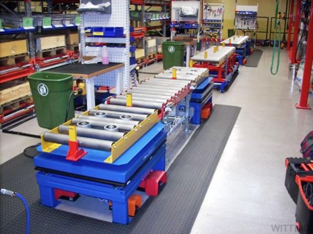 Rullbana med elmagneter för montering