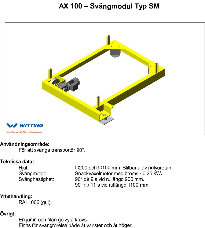 AX 100 – Svängmodul Typ SM