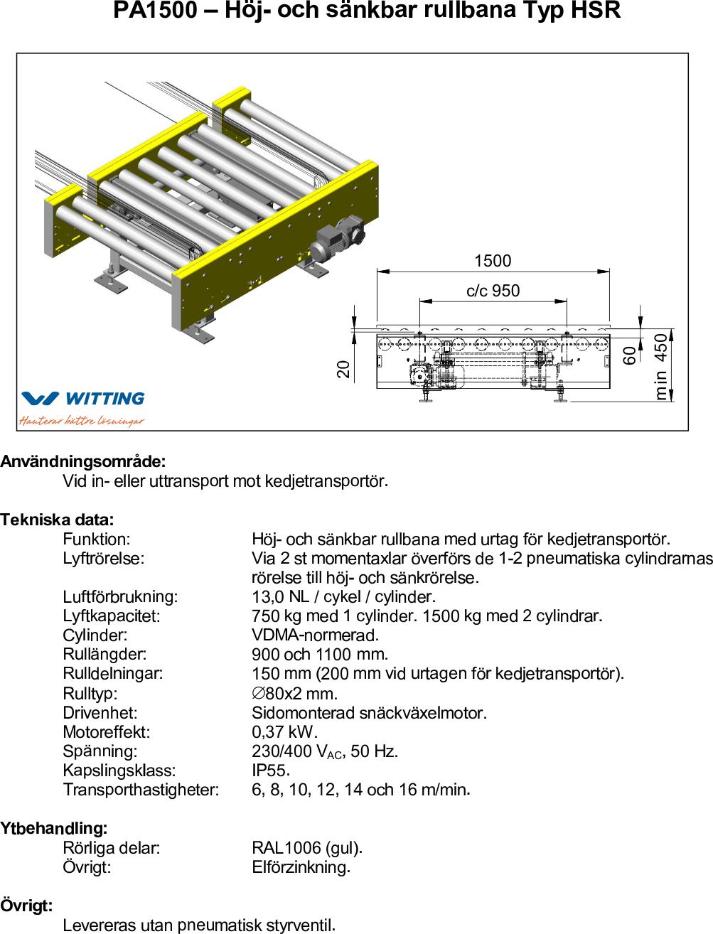 Höj- och sänkbar rullbana Typ HSR