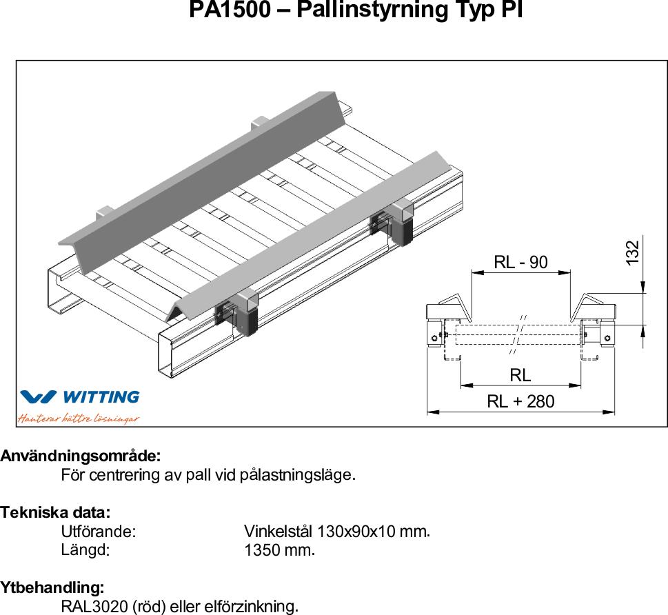Pallinstyrning Typ PI