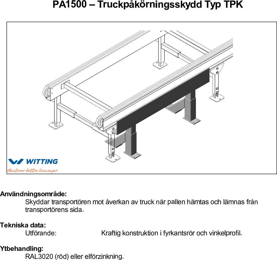 Truckpåkörningsskydd Typ TPK