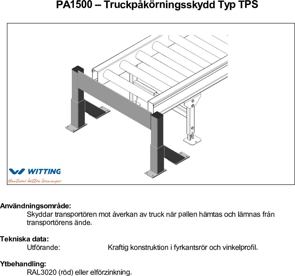 Truckpåkörningsskydd Typ TPS