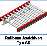 AX100 – Rullbana, driven ackumulerande typ AX