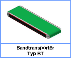 Bandtransportör Typ BT