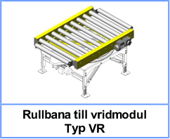 Rullbana till vridmodul Typ VR